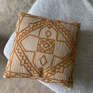 UO - Boho Accent Throw Pillow - Mustard